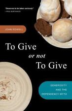 To Give or Not to Give? : Rethinking Dependency, Restoring Generosity, e2