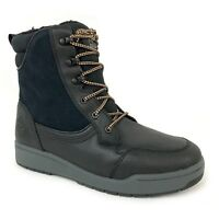 """Timberland Men's 6"""" Raystown Black Leather Waterproof Snow Boots A1HRA"""