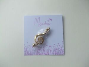 Treble Clef Music Note Plain Gold Coloured New