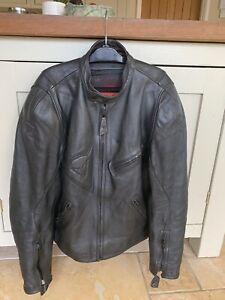 Dainese leather motorbike jacket used mens