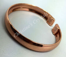 MAGNETIC Solid PLAIN CURVED Pure Copper Bracelet Healing Arthritis Relief ( M7 )