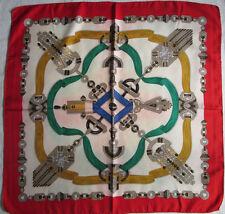 -Superbe Foulard  ETRO  100% soie  (T)BEG  vintage 84 x 86 cm