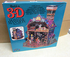 Vintage 3D Monster Mansion Jigsaw Puzzle 1994 Ceaco New - HTF