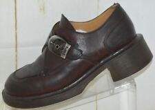 Vintage Doc Martens Brown Leather Women's Chunky Buckle Shoes Loafers UK 4 USA 6