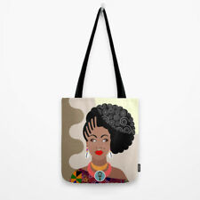 Bag Tote African American Queen Ankh Ebony Women Black Kente Print Handbag Gift
