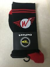 Defeet Wheels Manufacturing Cycling Socks Black Red Size Large Bike Socks