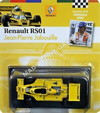 RENAULT RS01 JEAN PIERRE JABOUILLE #15 1:43 Scale F1 Racing Car Formula One