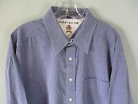 Tommy Hilfiger Men's Size XL 100% Cotton Long Sleeve Button Front Shirt Pocket
