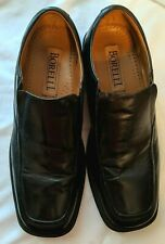 Mens LEATHER BORELLI DRESS SHOES Loafers Black Borrelli Square BROADWAY 320027 M