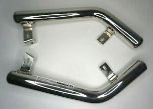 Genuine Nissan X-Trail Rear lower bumper styling bars (chrome) KE545 4B53A