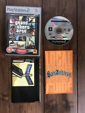 * Sony Playstation 2  GRAND THEFT AUTO SAN ANDREAS with Map And Instructions