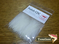 WHITE CUL DE CANARD POLISH QUILLS CDC - NEW FLY TYING FEATHERS