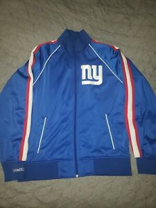 Mitchell and Ness New York Giant's NFL Snap Pass Track Jacket MSRP$160 Size M