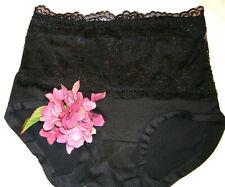 NEU!! Damenslip in schwarz 682 Bambus Spitzenvorderteil Gr 38 40