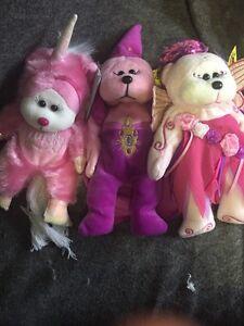 BK Set Of 3: Dusty The Unicorn, Enchantress The Bear, Flowerbud The Fairy Bear