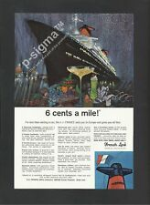 FRENCH LINE S.S. France 1965 Vintage Print Ad