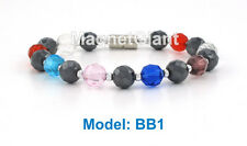 High power magnetic hematite beads bracelet for natural healing + magnetic clasp