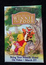 MANY ADVENTURES WINNIE THE POOH MARCH 27 1996 VIDEO RELEASE CAST MEMBER BUTTON
