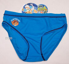 Go Diego Go Boys Blue Printed Swimming Racer Brief Bathers Size 2 New