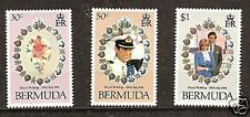 BERMUDA # 412-414 Royal Wedding