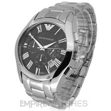 *NEW* MENS EMPORIO ARMANI STEEL CHRONOGRAPH WATCH - AR0673 - RRP £299.00