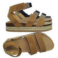 Atarah04 Elastic Modern rugged Espadrille Flatform Platform Open Toe Sandal