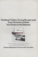 NORTHEAST AIRLINES 1968 727 YELLOWBIRDS MONTREAL TO MIAMI & BOSTON TO BAHAMAS AD