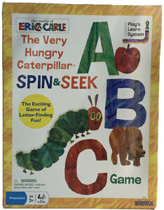 THE VERY HUNGRY CATERPILLAR! Spin & Seek ABC Game Briar Patch NEW. Open Box.