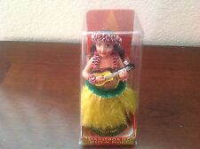 New Hawaiian  Dashboard Hula Doll Dancer Girl Posing Yellow