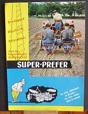 ▬► Prospectus Bineuse RIBOULEAU Super-Preffer Type C et D Tracteur Someca Massey