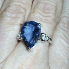 100% Genuine Baiyang Colour Change Fluorite & Topaz Sterling Silver Ring 7cts..