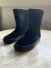 Vans Womens Slip On Boots Size 5 Black Suede Leather