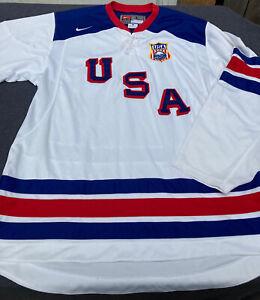 Rare NIKE USA Olympics Hockey Team IIHF Buffalo Sabres 2011 Jersey Men's Large