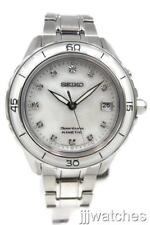 New Seiko Kinetic Sportura Mother Of Pearl Women Date Dress Watch SKA881 $575