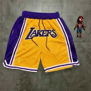 Lakers NBA Los Angeles ellow Royal Basketball Team Shorts