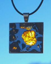 SUPERB IMILAC PALLASITE JEWELRY METEORITE NECKLACE SET IN 14K GOLD! GORGEOUS!