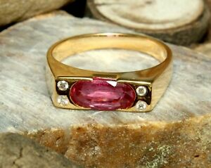 Natural Ruby Oval Cut Gemstone Gold Plated 925 Solid Silver Women Wedding Ring