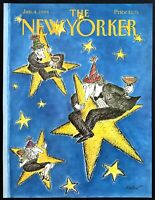 1988 New Years Eve Swinging on Star art by Ed Koren Jan 4 New Yorker COVER ONLY