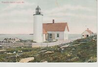 Franklin Island Lighthouse Muscongus Bay Vintage Postcard, Maine