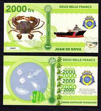 ILE JUAN DE NOVA ● TAAF / COLONIE ● BILLET POLYMER 2000 FRANCS ★ N.SERIE 000005