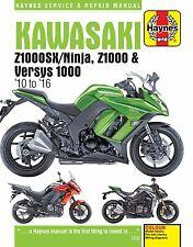 KAWASAKI Z1000, Z1000SX & VERSYS 1000 2010 a 2016 Haynes Manual 6377
