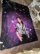 "2012 Justin Bieber Double Sided Twin Bed Comforter Blanket 82"" by 64"""