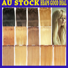 """26"""" Clip-in Remy Human Hair Extension Black Brown Blonde Extra Length"""