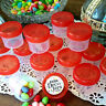 12 Jars 1 ounce to top Containers Orange Lid Party Favors 4304 USA DecoJars
