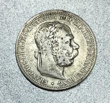 OSTERREICH / AUTRICHE 1 CORONA FRANÇOIS JOSEPH 1er 1894 VIENNE en ARGENT.