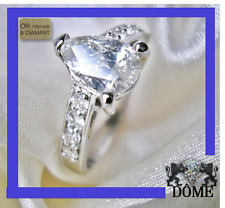 ☆ IDEE KDO ALLIANCE SPLENDIDE BAGUE SOLITAIRE DIAMANT 1CT OR BLANC 18k 6200E ☆