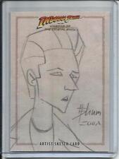 Indiana Jones 2008 Topps Artist Sketch Card #1/1 By Howard Shum