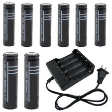 8x 18650 3.7V Li-ion Rechargeable Battery and Battery Charger