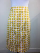 NWT Talbots Women Skirt Yellow White Pencil Career Work Wear Casual MSRP $89.50