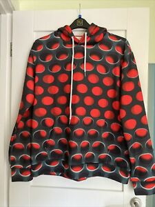 Unisex Red Circle Pattern Black Hoodie Size Xl New Without Tags